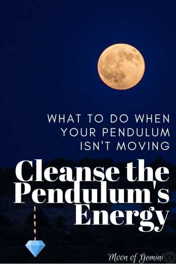 If your pendulum isn't working, it might be good to try and cleanse the energy attached to it!