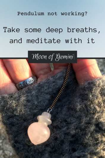 meditating with your pendulum is an easy way to create connections with your pendulum