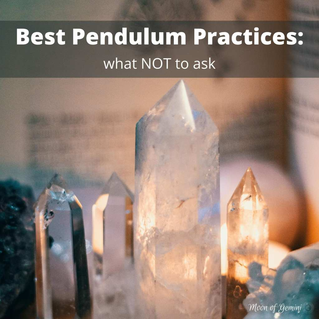 The 3 questions you should never ask your pendulum - best practices