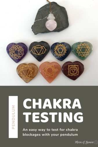 Testing for blocked chakras is really easy with a pendulum. Either test yourself or another person!