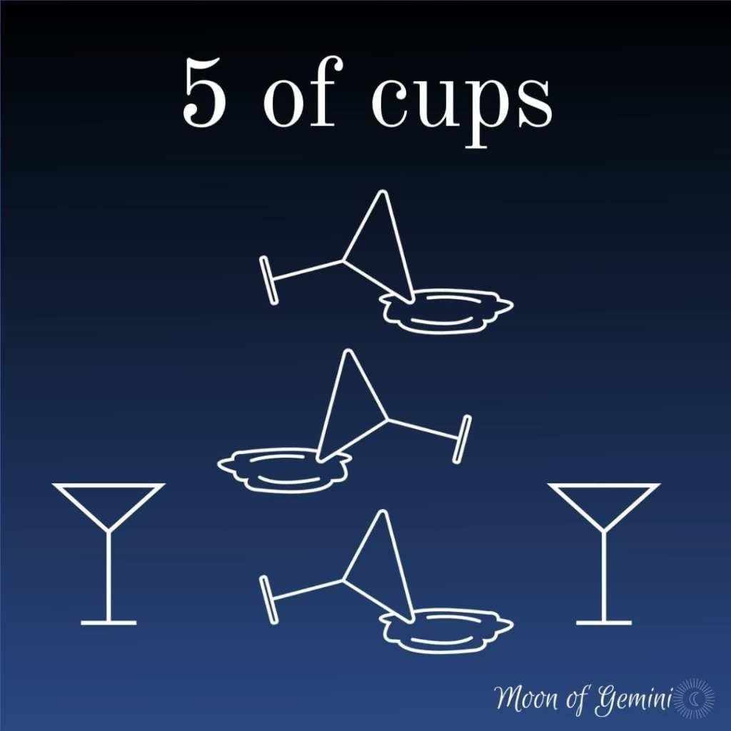 5 of cups tarot card