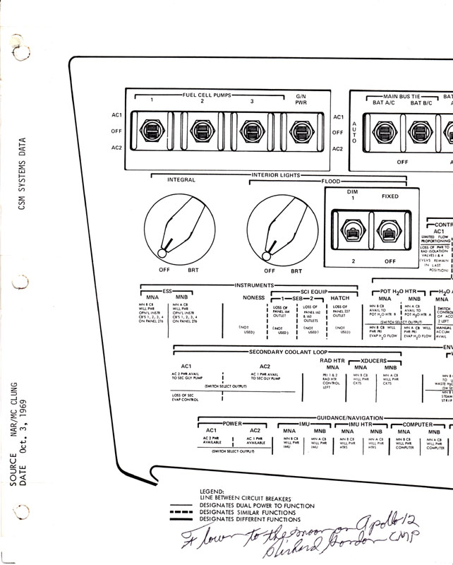 Apollo 12 Flown to the Moon Schematic Page 6