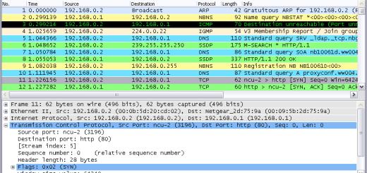 網路流量監測軟體 Wireshark 1.8.0