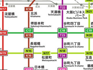 大阪地鐵路線圖APP - 大阪地鐵通