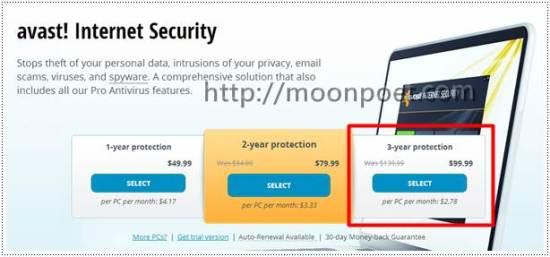 avast防毒軟體中文版 Internet Security 3年序號免費送