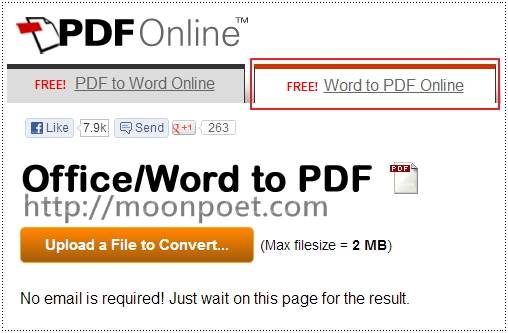 pdf轉word 線上免費轉檔服務 PDF to Word Online - 免費軟體下載