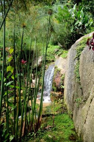 Small waterfall garden
