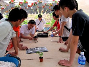 Gardening For Food: Participants compete on assembling the Autopot
