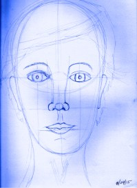 Face Drawn Following P.C's Guidance