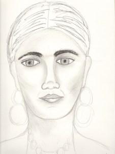 Angel Face Sketch