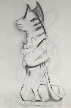 Cat statue-side A
