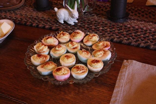 Pastel Deviled Easter Eggs Moonshine In A Teacup