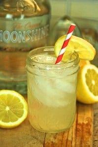 Lemonade Moonshine in a Jar
