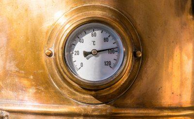 Copper Still Temperature Gauge