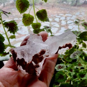 Selenite Crystal with Clay