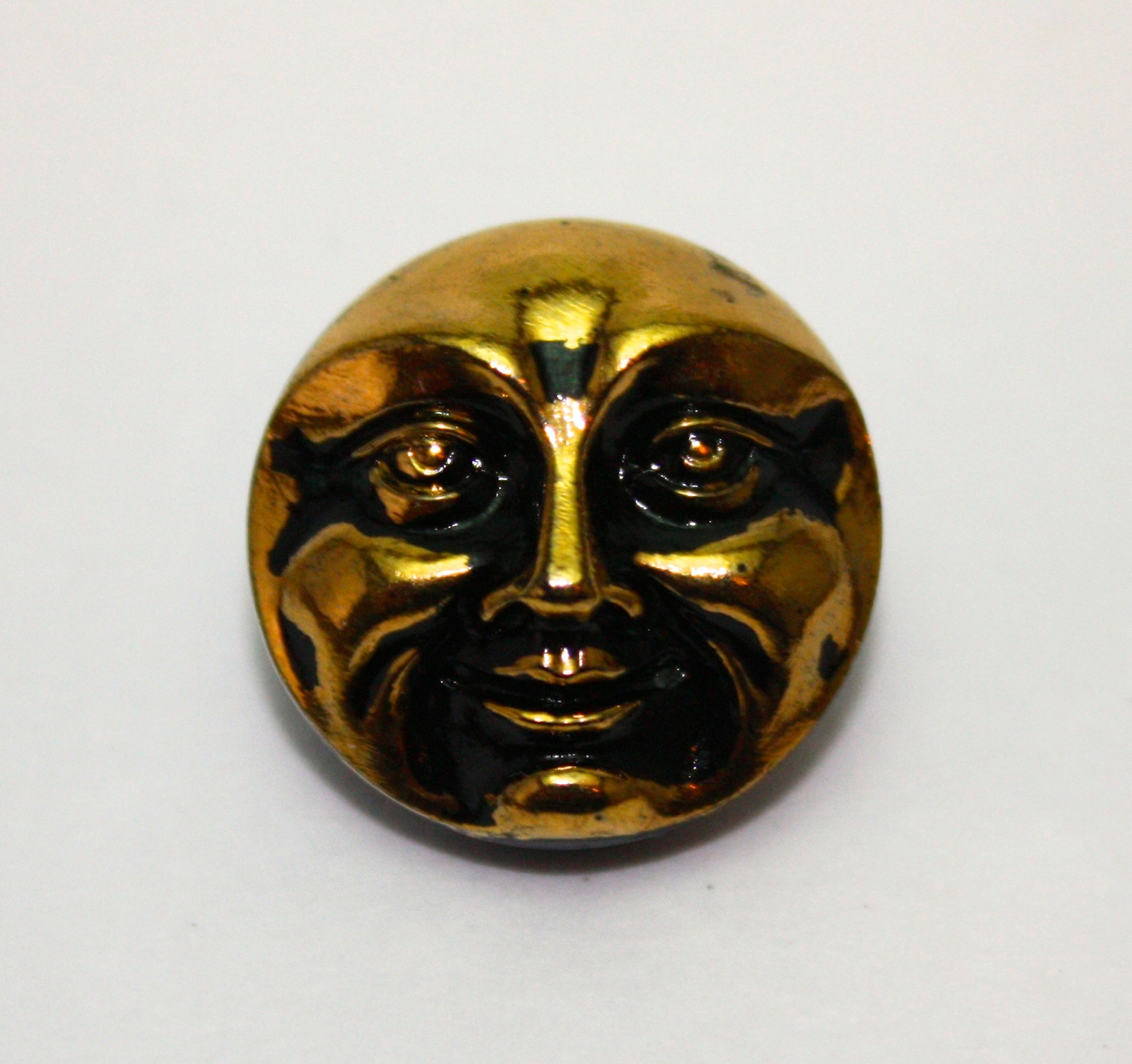 Moon Face: black/gold