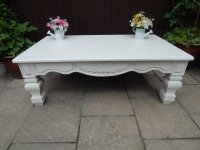 SHABBY CHIC , LARGE FRENCH COUNTRY COFFEE TABLE # # # SOLD ...