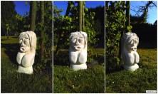 Limestone sculpture in progress