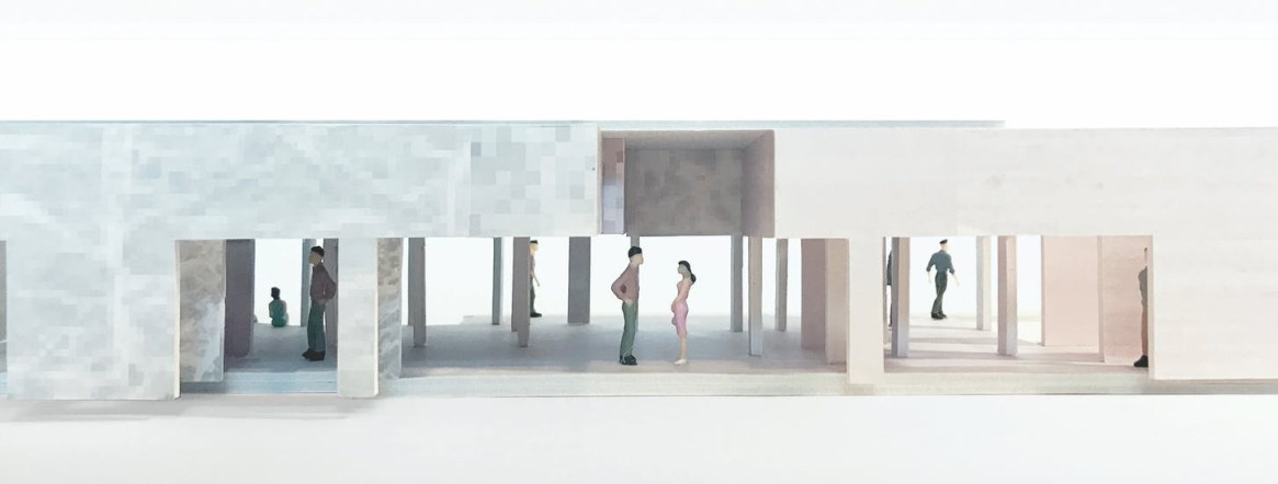 long Barcelona Pavilion Model, 2015-2017