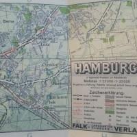Hamburg 1946 - ein FALK-Stadtplan
