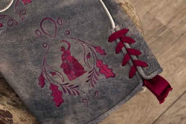 Sämisch gegerbte Wildbock Lederhose Detail4