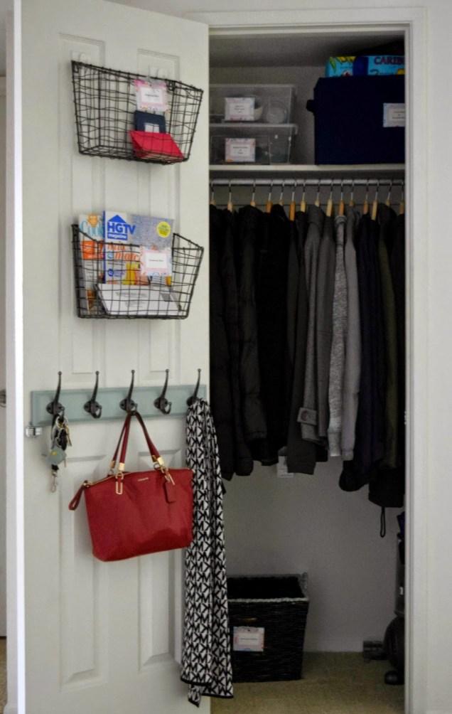 organized coat closet