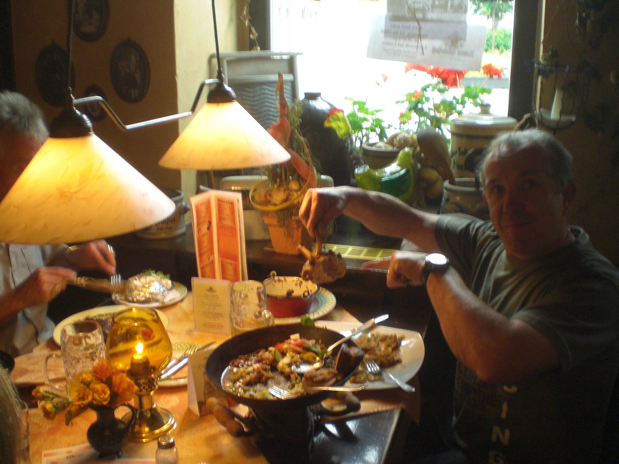 The Dozys postpone the soundcheck in favour of dinner....