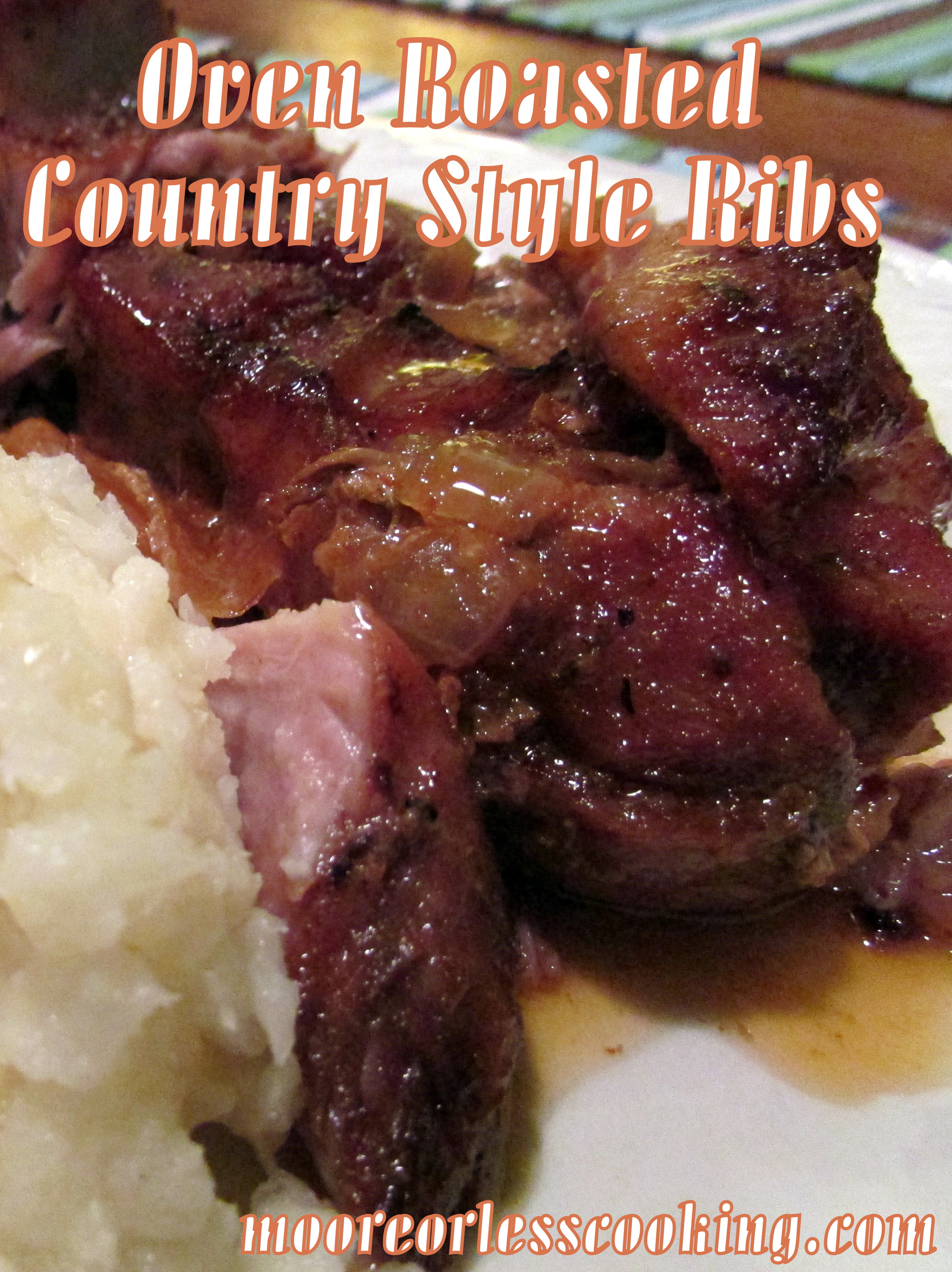 Oven Roasted Country Style Ribs and a Cookbook and Spice Giveaway