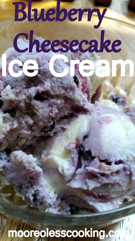 Blueberry Cheesecake Ice Cream