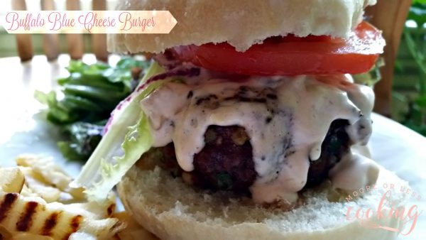 Buffalo Blue Cheese Burger #BurgerMonth