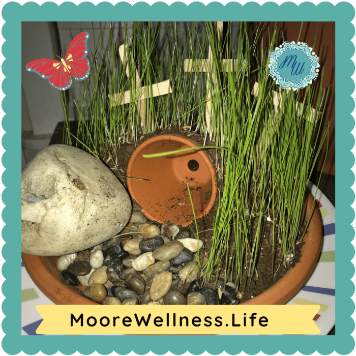 MooreWellness.Life shares how to make spring fairy gardens & even ideas for celebrating Easter for families of all ages with miniatures.
