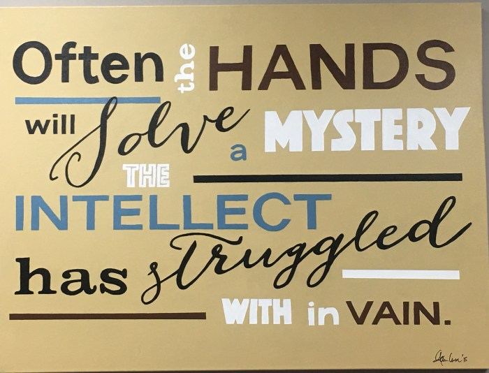 OFTEN THE HANDS WILL SOLVE A MYSTERY ...