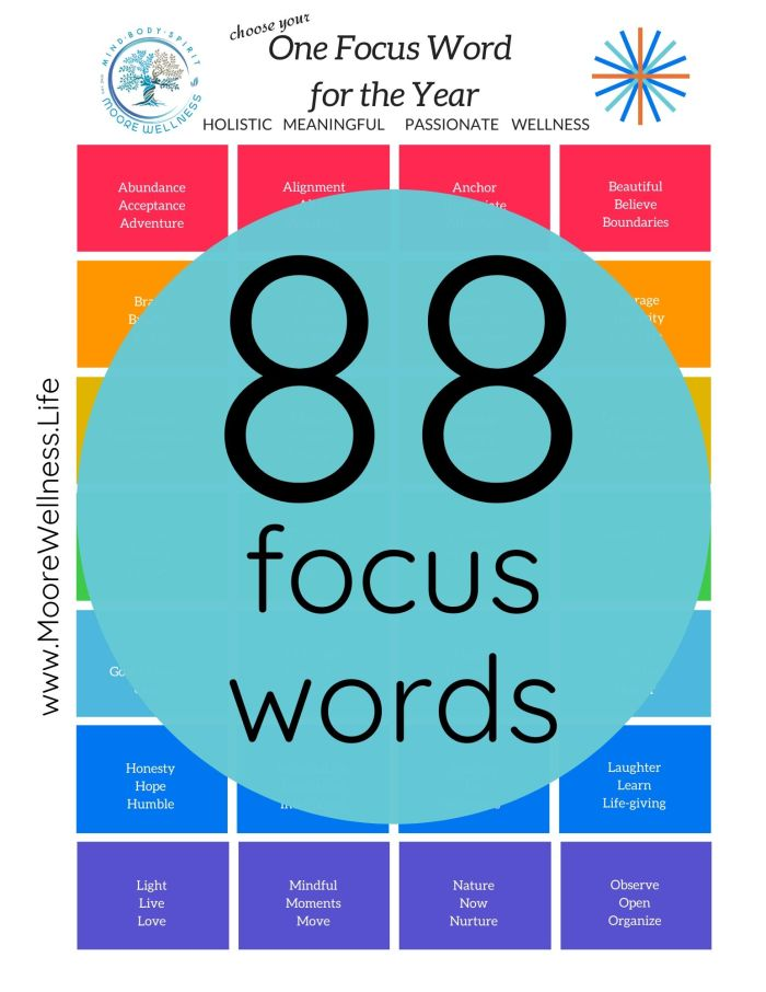 preview of 88 focus words to set intentions for the year