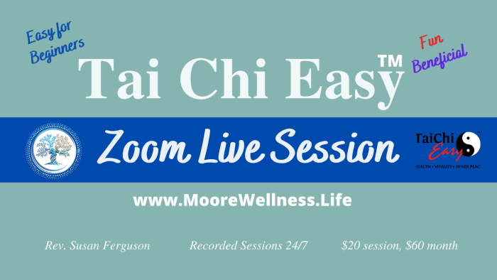Tai Chi Easy Zoom Live Session