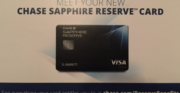 I received my Chase Sapphire Reserve Card!