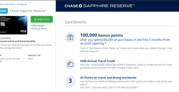 Chase Sapphire Reserve Application is Live!