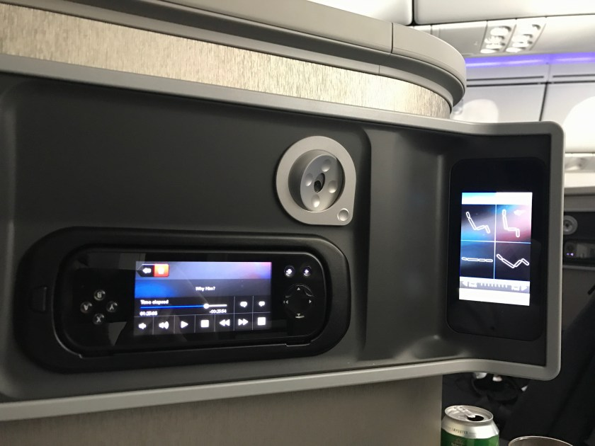 American Airlines 787 Business Class Seat Controls