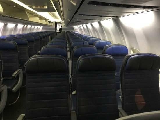 United 737 Interior