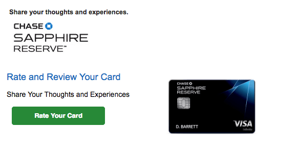 Rate And Review The Chase Sapphire Reserve Card