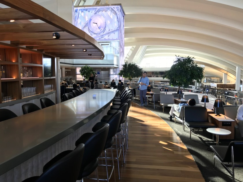 LAX Business Class Lounge Terrace Views