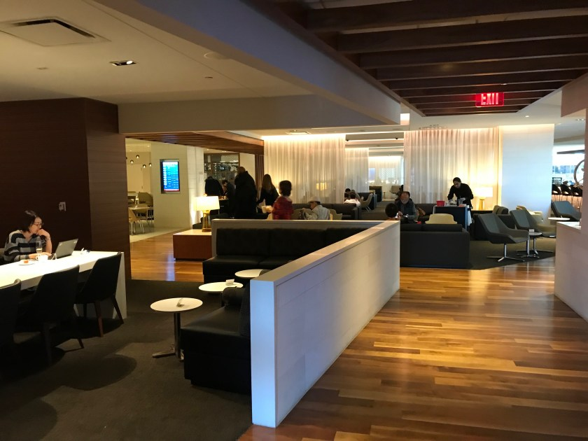LAX Business Class Lounge Seating Sections