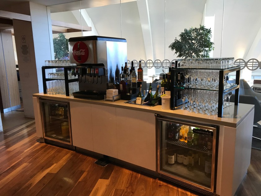 LAX Star Alliance Business Class Lounge Beverage Station