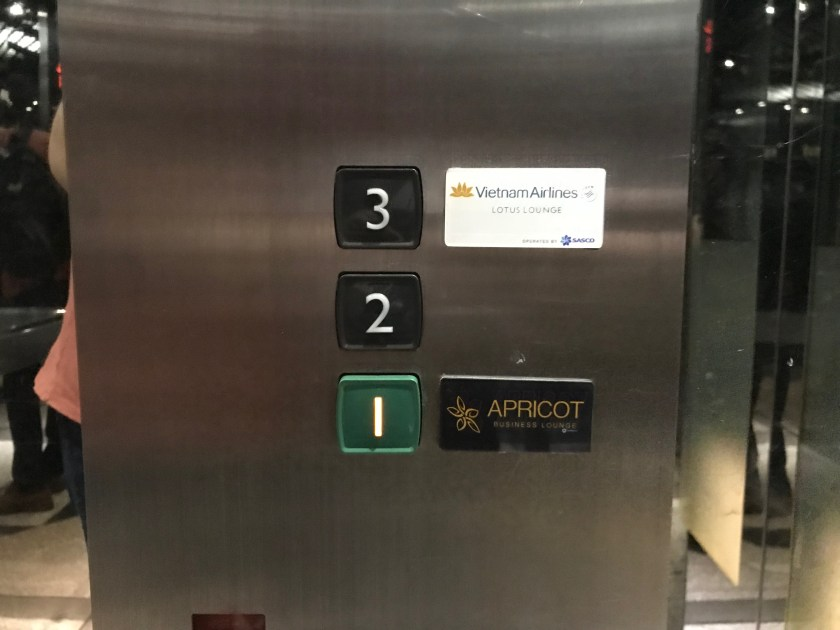 Apricot Lounge Elevator Button