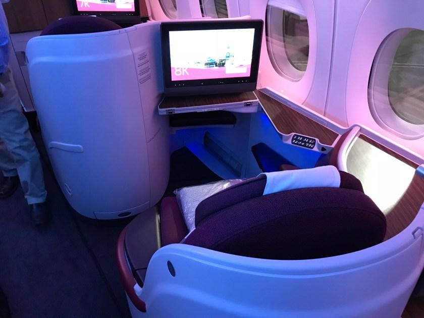 Qatar Airways A350 Oryx One Screen