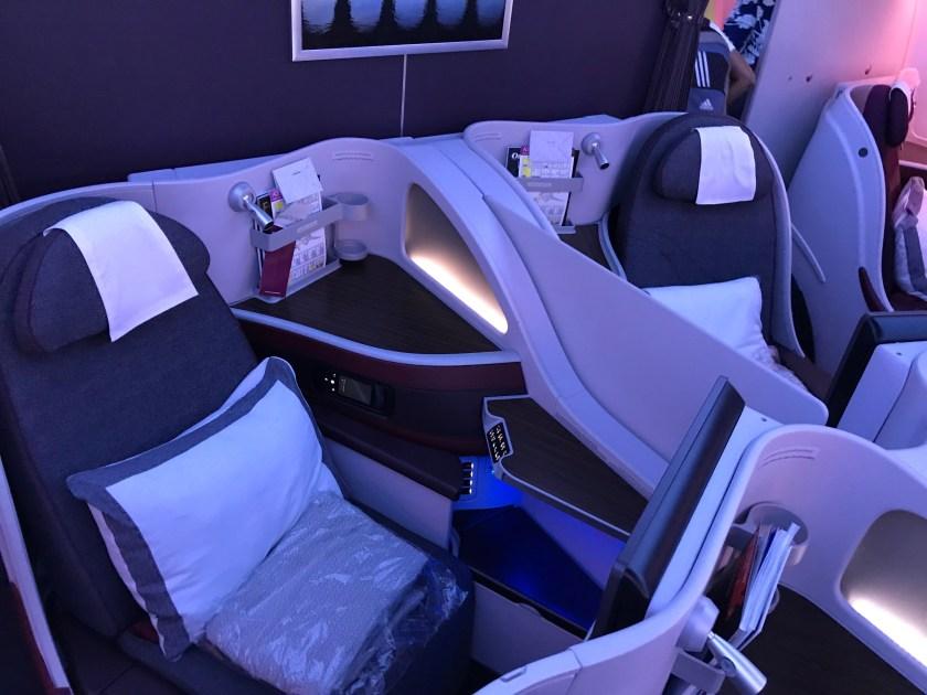 Qatar Airways A350 Business Class Seats 9E/F
