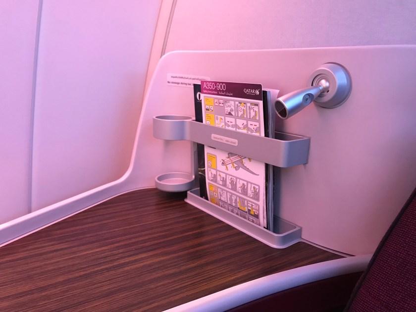 Qatar Airways A350 Business Class Seat Magazine Rack