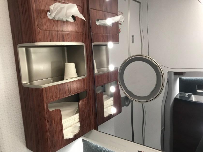 Qatar Airways A350 Business Class Lavatory Mirror
