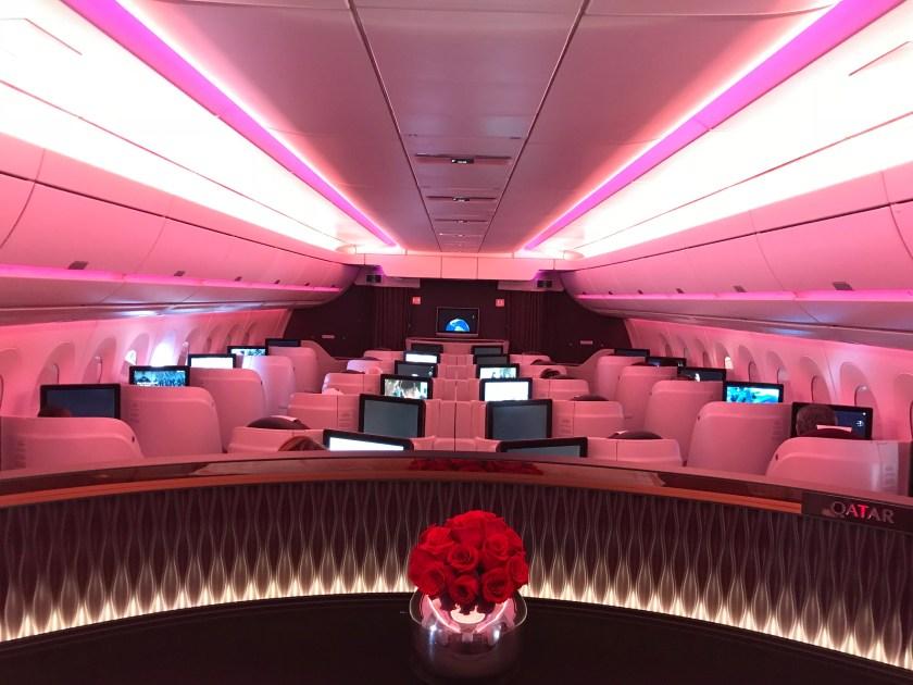 Qatar Airways A350 Business Class Cabin