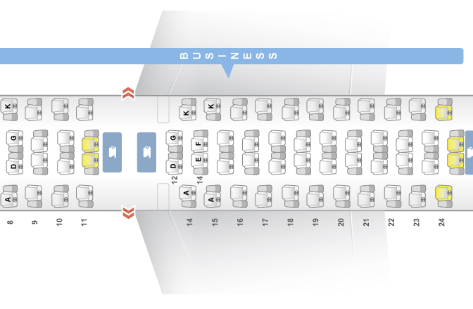 Asiana Airlines A380 Seat Map