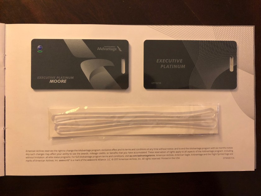 AAdvantage Executive Platinum Luggage Tags